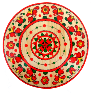 "Round kitchen board ""Permogorsk painting. Rosette"""