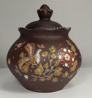 "Sugar bowl ceramic ""Piven"""