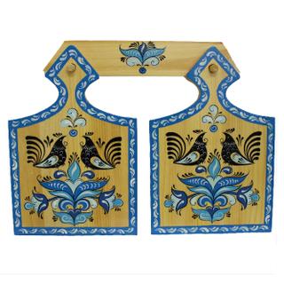 """A set of wood planks """"blue Rakulskaya painting"""" 2 items"""