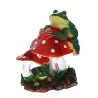 "Remeko / Decorative item ""Frog on a fly agaric"", L32 W24 H38cm"
