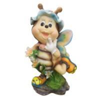 """Remeko / Ornamental garden figure """"Bee No. 1"""" L24W21H54 cm"""