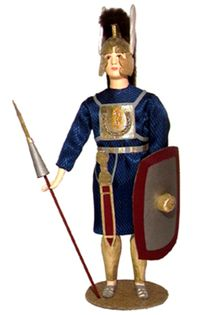 Doll gift. Principle (after a hard infantry). The military uniform. The Roman Empire. 4-6 century BC.