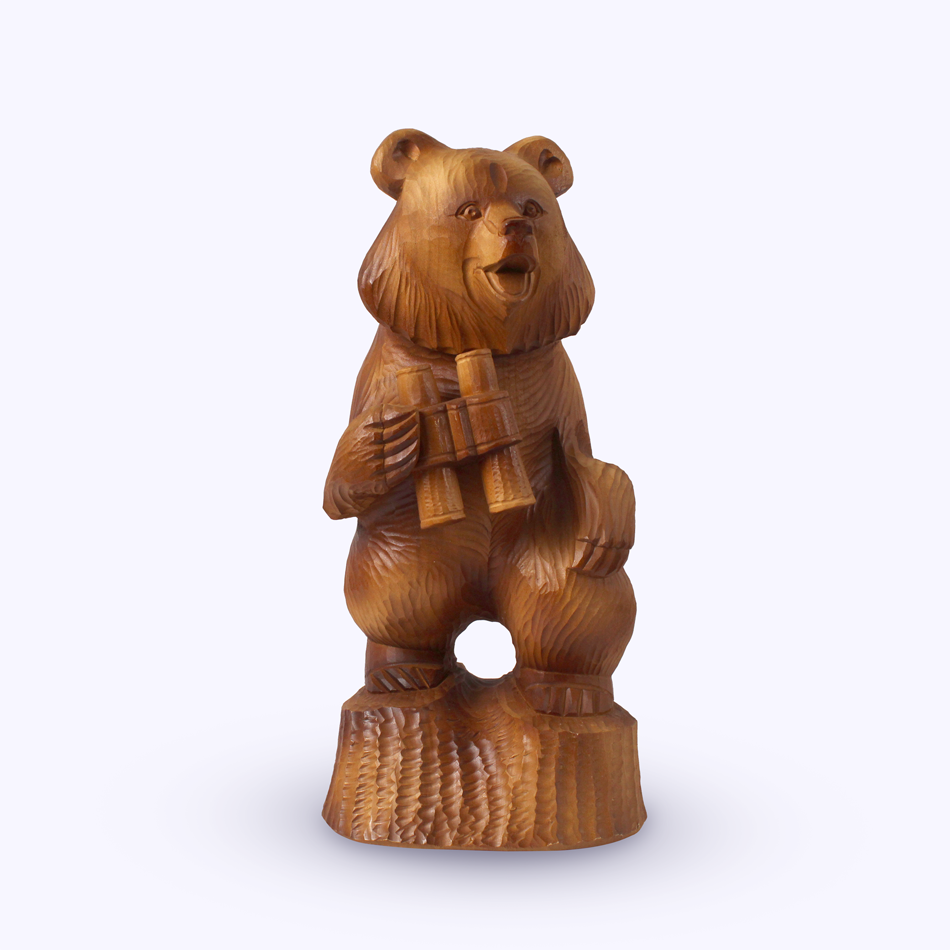 "Bogorodsk toy / Wooden souvenir ""Master of the forest"""
