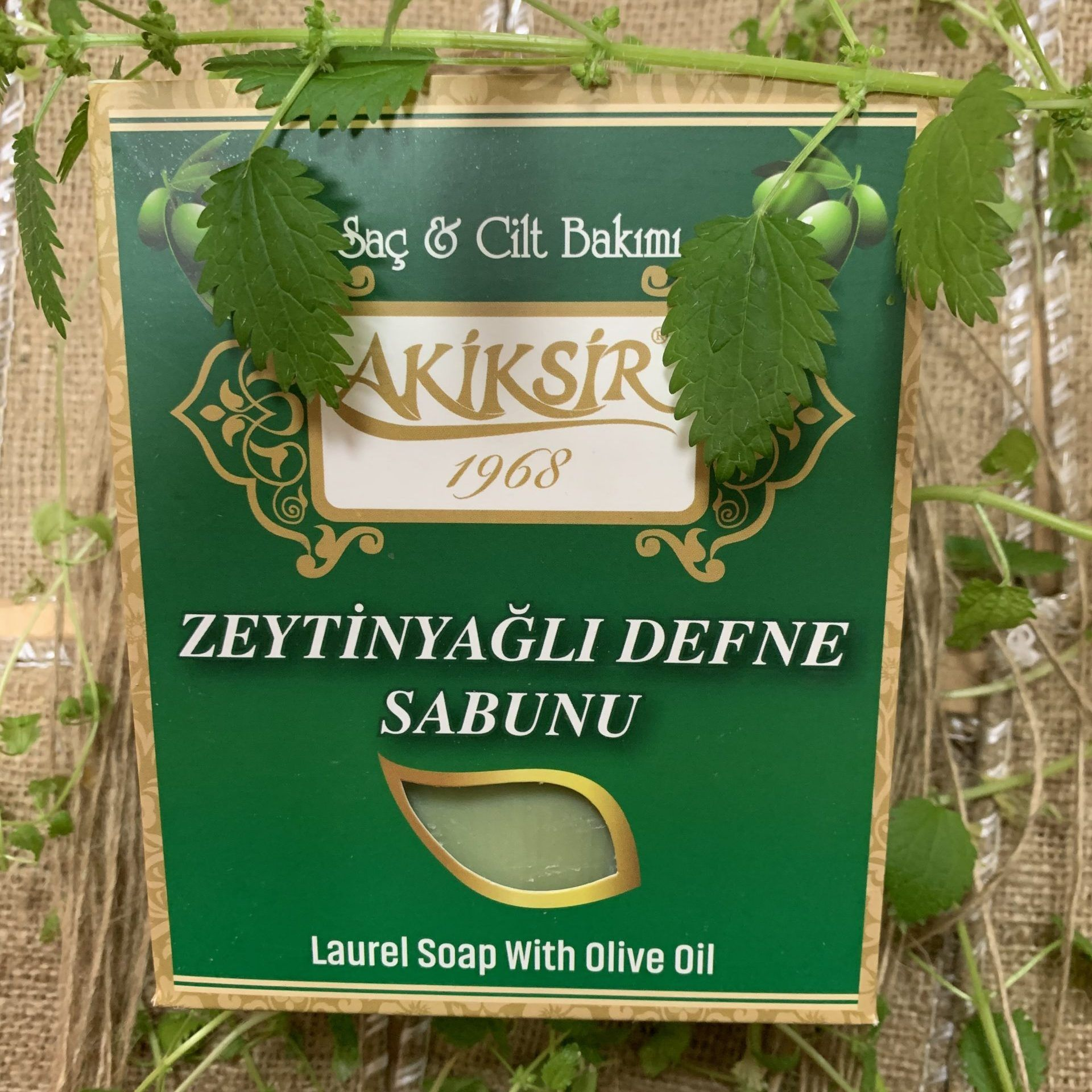 Set of natural bay soap with Akiksir olive oil, 6 pieces per pack