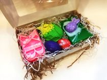 Large set of handmade soap happy Easter
