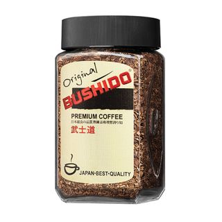 "BUSHIDO / Instant coffee ""Original"" freeze-dried, 100% Arabica, glass jar 100 g"