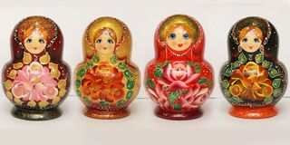 Matryoshka 10 seats Flower Simple - souvenir