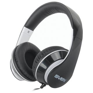 Headphones with microphone (headset) SVEN AP-940MV, wired, 1.2 m, with headband, black-and-white