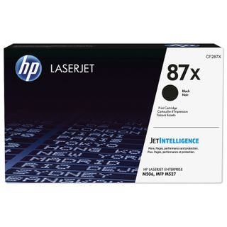 HP (CF287X) LaserJet M506dn / M506x / M527dn / M527f / M527c toner cartridge, # 87X, original, yield 18,000 pages