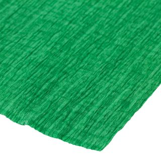 ISLAND OF TREASURES / Crepe paper for creativity and floristry, 110 g / m2, green, 50x250 cm