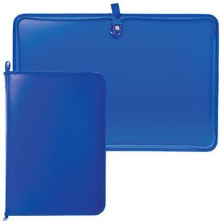 The zip folder, plastic, A4, matte, blue, size 320х230 mm