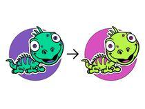 Decal on textiles Lizard