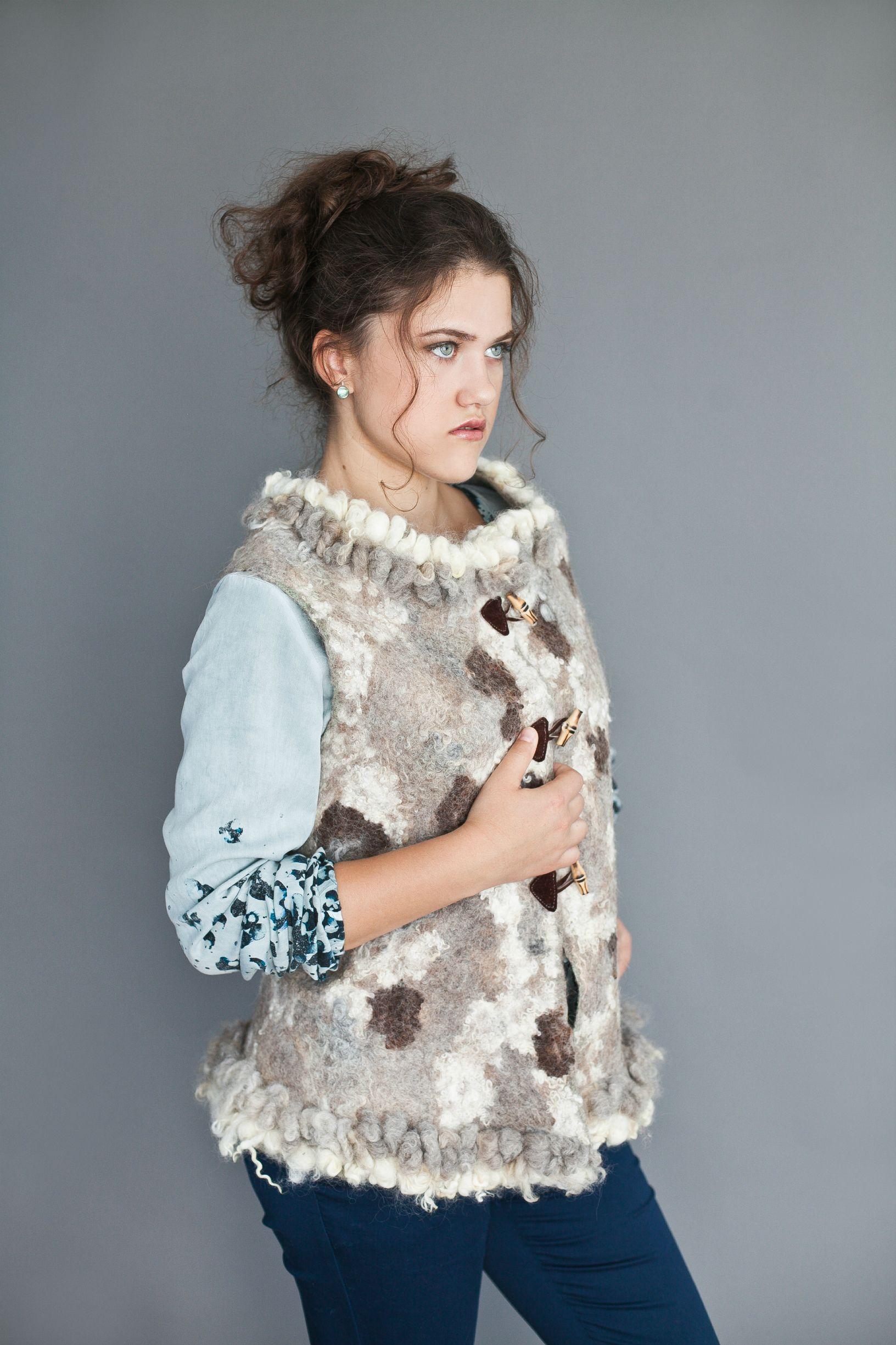 "Kudelka / Vest ""Curly"" merino wool"