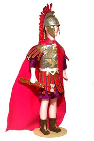 Legat. The military uniform. The Roman Empire. 4 - 6 centuries BC. Doll gift