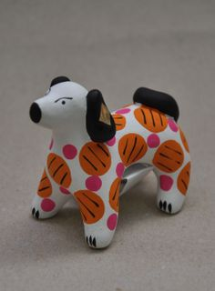 Dymkovo clay toy Dog with spots