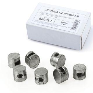 Lead seals, diameter 10 mm, height 7 mm, packing 1 kg