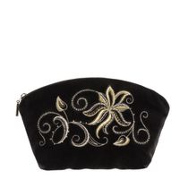 Velvet cosmetic bag 'Minuet'