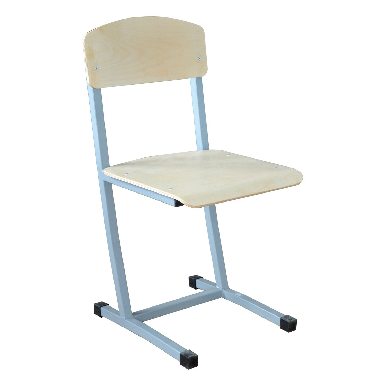 """Chair student unregulated """"Budget"""", 800 x380 x480 mm, height 6, gray frame"""
