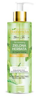 Micellar gel for cleansing face, GREEN TEA, BIELENDA, 200ml
