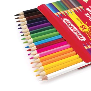 Crayons PYTHAGORAS, 18 colors, classic, honed, carton packaging