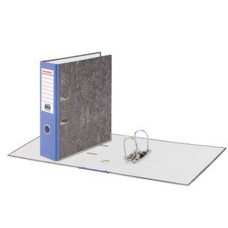 Folder-Registrar BRAUBERG, reinforced spine, marble cover, 80 mm, area, blue