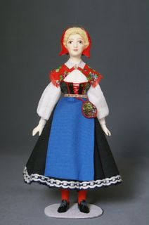 Women's costume of the 20th century Sweden. Doll gift