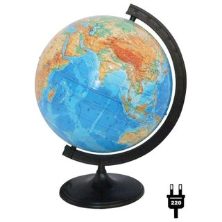 GLOBE WORLD / Physical globe, diameter 320 mm, with backlight