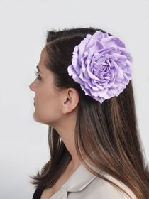 Hairpin brooch Rose lilac