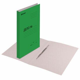 File folder cardboard coated BRAUBERG, guaranteed density 360 g/m2, green, 200 sheets