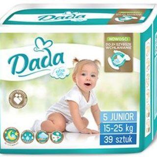 Baby diapers Extra Soft DADA (JUNIOR) (cat. 39 PCs) 15-25 kg, No. 5