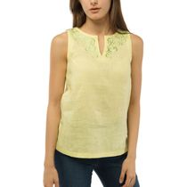 Women's blouse 'city' yellow color with silk embroidery