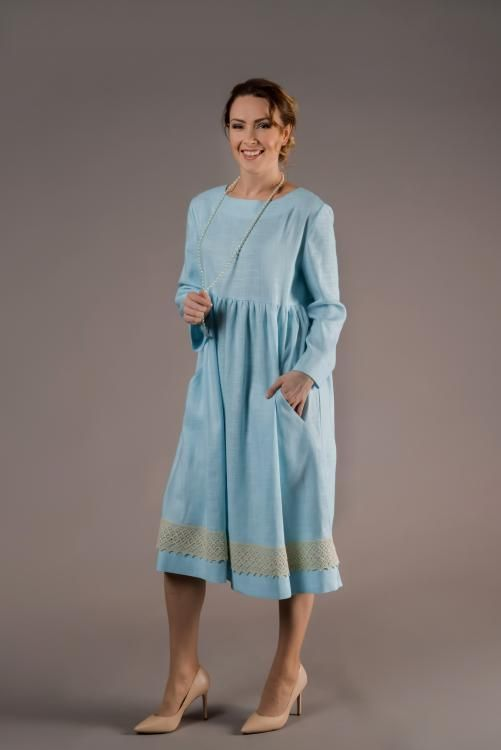 "Women's dress ""In harmony with a"" loose cut"