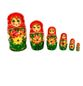 Russian woman - Matryoshka booklet, 6 dolls - booklet number 18 - view 1