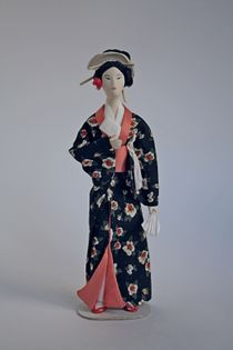 Doll gift. Women's costume, late 18th century, Japan