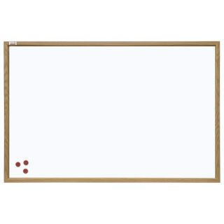 Board magnetic marker 45x60 cm, brown frame made of MDF, OFFICE,