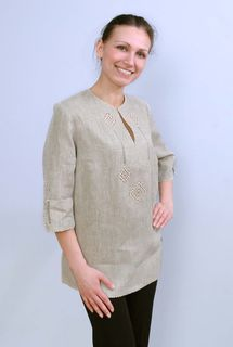Blouse womens linen 9-563