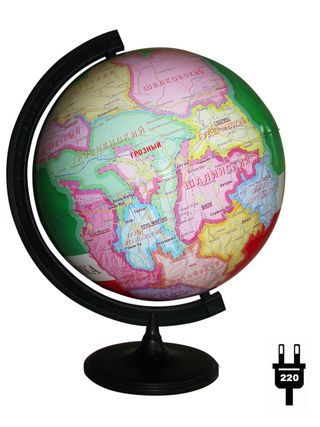 Gift, the globe of the Republic of Chechnya with backlight