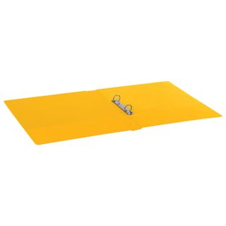 Folder on the 2 rings BRAUBERG, cardboard/PVC, 35 mm, yellow, up to 180 sheets (double life)