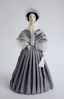 Doll gift. The lady in the secular costume of the 1st half of the 19th century, Pushkin's era.