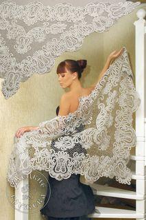 Shawl women's lace С1888