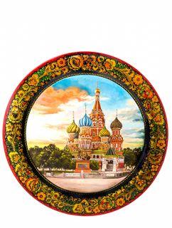 """Khokhloma painting / Panel """"Jubilee"""" 550x25 mm"""