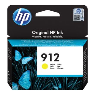 HP Inkjet Cartridge (3YL79AE) for HP OfficeJet Pro 8023 # 912 Yellow, Yield 315 Pages Original