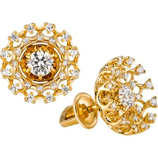 """Gold earrings """"Champagne"""" collection"""
