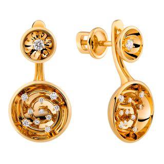 Boucles d'oreilles en or jaune de collection
