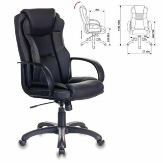 Office chair CH-839/BLACK, eco-cozh, black