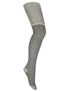 "Tights with a pattern ""Golfiki"" Heather grey"