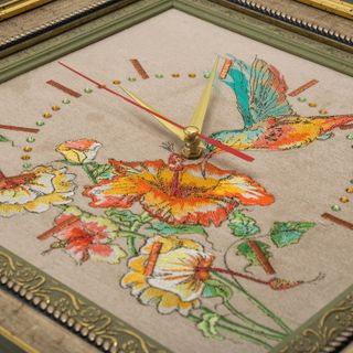 """Panel-watch """"Hummingbird"""" beige with gold embroidery"""