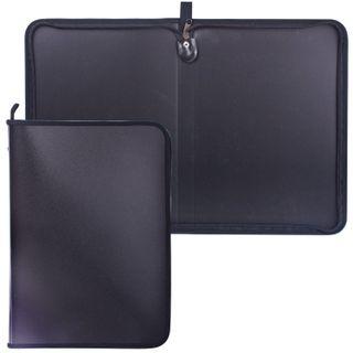 The zip folder, plastic, A4, matte, black, size 320х230 mm
