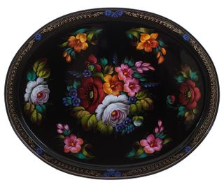 Zhostovo / Tray, author Dubova T. 51x41 cm