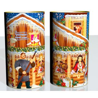 """New Year's gift Tuba """"Bogatyr"""", set of sweets 900g."""